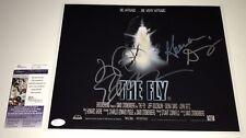 Jeff Goldblum & Geena Davis THE FLY Cast Signed 11X14 Photo Autograph JSA COA