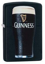 Zippo 29649 Guinness Beer Black Matte Finish New Lighter