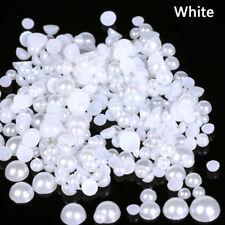 1000pcs Mixed Size ABS Imitation Pearls Half Round Flatback For DIY Craft Decor