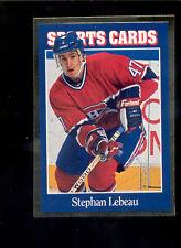 1992 Sports Card News STEPHAN LEBEAU Hockey Magazine Card