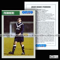 FERRERI JEAN-MARC (OLYMPIQUE MARSEILLE OM, SC TOULON) 80's Fiche Football (1998)