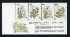FLOWERS   1990  DX100  GALWAY  EXHIBITION   BOOKLET PANE - SCARCE