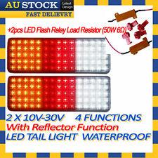 2x 12v 24v LED Tail Light UTE Trailer Caravan + LED Flash Relay Load Resist