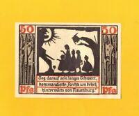 NAUMBURG (ALLEMAGNE) BILLET-MONNAIE de NECESSITE illustré OMBRE CHINOISE 1920