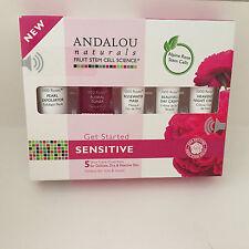 NEW! ANDALOU NATURALS ALPINE ROSE STEM CELLS GET STARTED SET SENSITIVE $30 VALUE