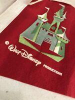 Vintage Red Walt Disney World Pennant 1970s Castle, Florida Souvenir Travel