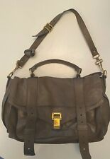 Authentic PROENZA SCHOULER PS1 Medium Smoke Leather Satchel Bag