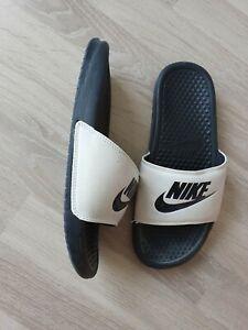 Nike Badelatschen Benassi Just Do It weiß/schwarz 38 39 40 Sandale