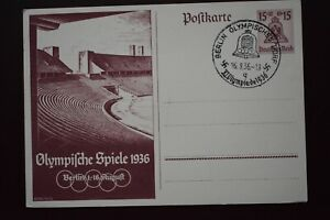 Germany Berlin 1936 Olympic Games Stadium Closing Ceremony postcard Athletics