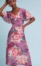 Kachel Galena Silk Dress Size 12 NWT Rare Midi Retail $228