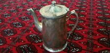 "Antique Grand Silver Co. Wear Brite Coffee-Tea Pot, Nickle Silver, 9""Tall ,"
