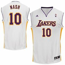 STEVE NASH LOS ANGELES LA LAKERS  JERSEY XXL 2XL ADIDAS HOME WHITE NBA REPLICA