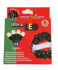 Brilliant Ultra LED Battery Operated String Lights Wreaths or Decor 15 Lights