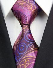 GL0398 Purple Pink Paisley Man Classic JACQUARD Woven Necktie Tie Formal New d