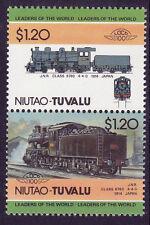 Tuvalu niutao loco 100 Jnr CLASSE 6760 Locomotiva Giappone FRANCOBOLLI Gomma integra, non linguellato