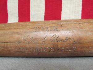 "Vintage Louisville Slugger H&B Wood Baseball Bat Special Henry Aaron Hank 32"""
