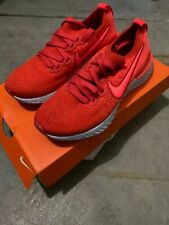 Nike Youth Shoes Size 4Y Epic React Flyknit 2 GS Chile Red AQ3243-601