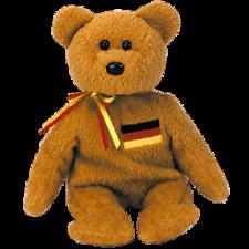 Ty Beanie Babies Germania Bear 1st Edition w/hang tag errors