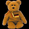Ty Beanie Babies Germania Bear 1st Edition w/hang tag errors