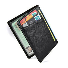 Men's Genuine Leather Slim Wallet Thin Credit Card Holder ID Case Purse Popular