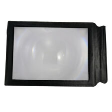 A4 Full Page Pocket 3X Flexible Card Reading Magnifier Magnifying Fresnel Lens