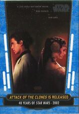 Star Wars 40th Anniversary Blue Base Card #86 Attack of the Clones is Released