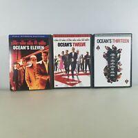 Oceans Movie DVD 11, 12, 13 Brad Pitt George Clooney Lot of 3