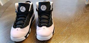 Nike Air Jordan Big Kids' 6 Rings Shoes: Pink/Black/White , 3Y. UPC 323431-006