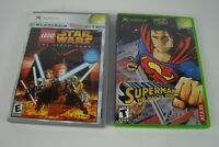 Original XBOX Lot Of 2 Games Star Wars The Video Game and Superman Man of Steel