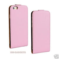 Genuine Real Leather Ultra Slim Flip Case Cover for Apple iPhone Models
