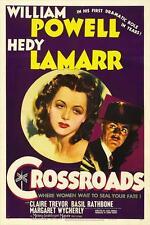 CROSSROADS Movie POSTER 27x40 B William Powell Hedy Lamarr Claire Trevor Basil