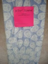 "Betsey Johnson Throw Blanket 50""X 70"" Blue Background With White Skulls, Nwt"