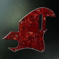 Custom Guitar Pickguard for Tele F Hole Convertion ,4ply Red Tortoise