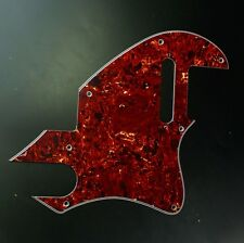 Custom Guitar Pickguard for Tele F Hole Convertion ,4ply Red Tortoise