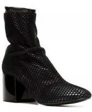 Maison Margiela⚡️MM6 velvet net mesh leather block heel sock boot size 36/6