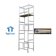 Scaffold Tower + Boards 5.5m - 4 x 2ft 6in x 18ft Work Ht DIY Galvanised Steel