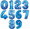 "30"" Blue Giant Foil Number Balloon - Birthday Party Decoration"