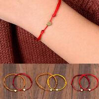 Women Men Lucky Heart Bracelet Red Thread String Rope Charm Bangle Cuff Jewelry
