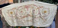Antique French Sofa Tapestry Upholstery With Flowers 90 X 190 Cm