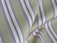 Laura Ashley GARDEN ROOM TICKING LA1126 1059 ORCHID Stripe Drapery Sewing Fabric