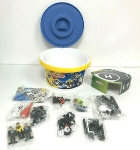 Kids Meccano City/Police Vehicles Toy 100 pc Set In Bucket: Read Description.