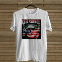 NEW ERIC CHURCH HOLDEN MY OWN FLAG LOGO WHITE T-SHIRT TEE USA SIZE EM1