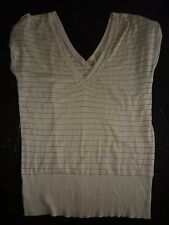 River Island beige, short sleeved top. Size 12