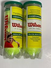 New Wilson Championship Regular Duty Tennis Balls (2-cans)