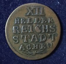 Germany Reichs Stadt Achen 12 Heller 1/48 Thaler 1792 Joseph II KM#51