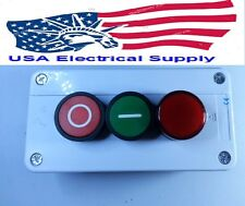 New  Red & Green Push Buton Switch Station With Indication Light 1NC/1NO