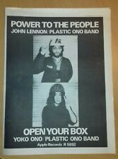 More details for * john lennon/yoko ono (power to the people) melody maker ad march 1971