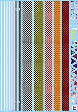Motorsport karierte Streifen Checkered Pattern Stripes 1:43 Decal Abziehbild