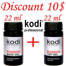 BEST PRICE! 2 pcs. 22ml. Kodi Professional - Gel LED/UV Rubber TOP + Rubber Base