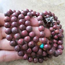 8mm*108 Buddha Purple Heart Rosewood Prayer Beads Tibet Buddhist Prayer Mala